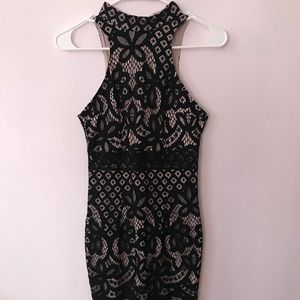LF High Neck Lace Dress
